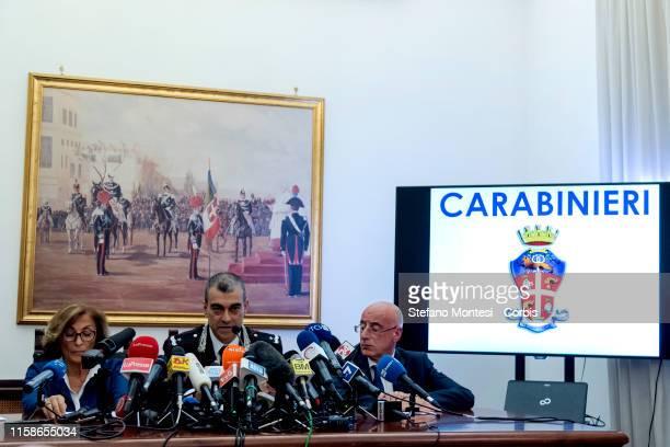 The prosecutor Nunzia D'Elia, the provincial commander of the Carabinieri of Rome, General of the Carabinieri Francesco Gargano and the regent...