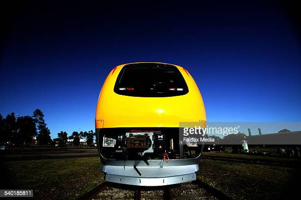 The Prospector train is built by the company United Goninan in Newcastle NSW