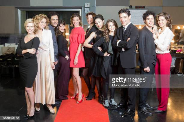 The protagonists of the television series Il paradiso delle signore Lorena Cacciatore Giusy Buscemy Alessandro Tersigni Claudia Vismara Christiane...