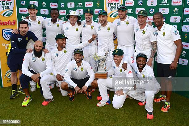 The Proteas pose during day 4 of the 2nd Sunfoil International Test match between South Africa and New Zealand at SuperSport Park on August 30 2016...