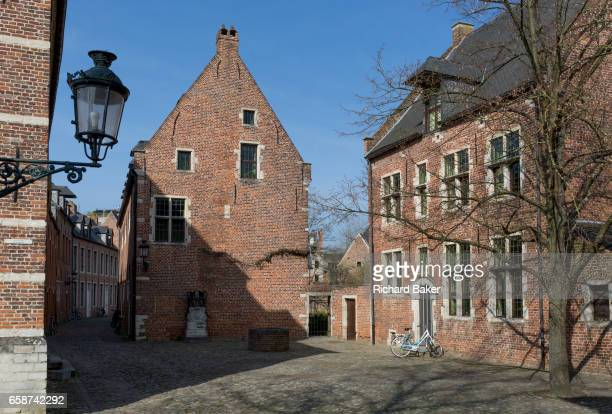 The protected UNESCO World heritage Site at the Grand Beguinage in the historic city of Leuven on 24th March 2017 in Belgium The Grand Béguinage of...
