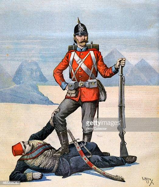 The protector 1983 A French caricature of England and Egypt A print from the Le Petit Journal 11th February 1893