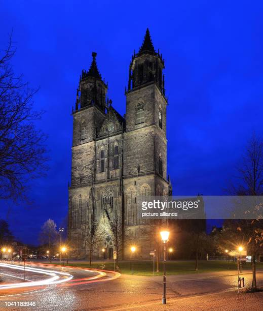 The protestant 'Cathedral of Saints Catherine and Maurice' is illuminated at dusk in Magdeburg Germany 12 November 2013 An expert panel of the...