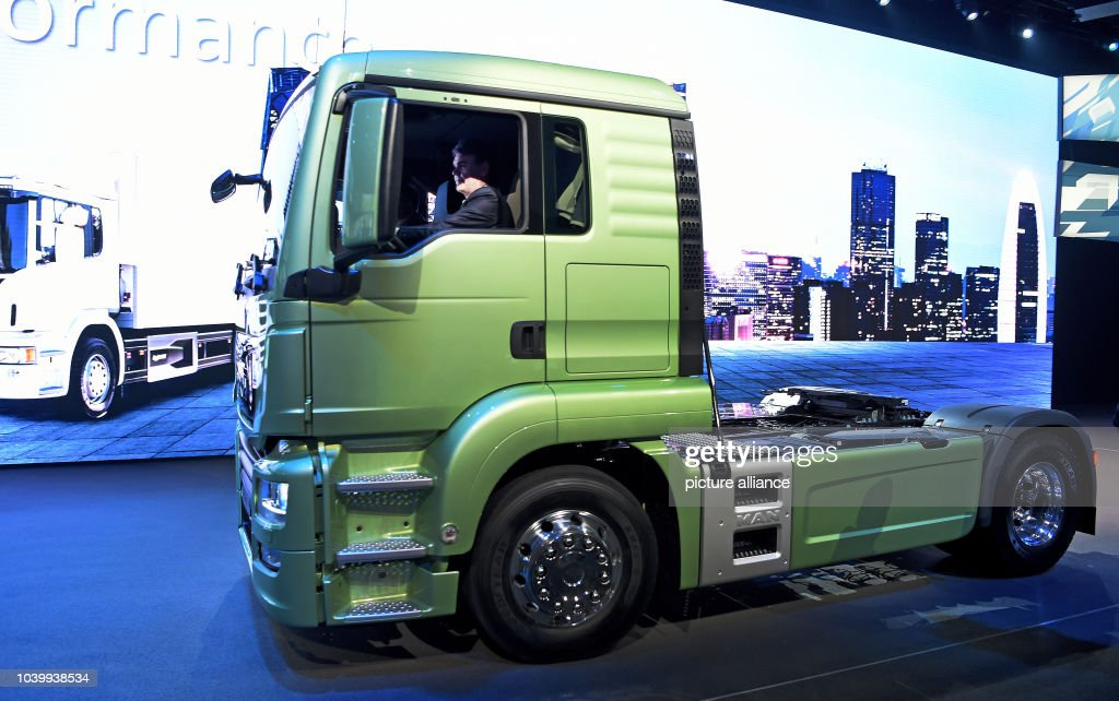 105df2cfa2 The prototype of a MAN eMobility Truck on show at the Volkswagen ...