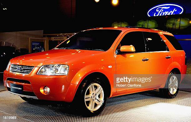 The prototype softroader Ford Territory Cross Over vehicle at the 2003 Melbourne International Motor Show at the Melbourne Exhibition Centre on...