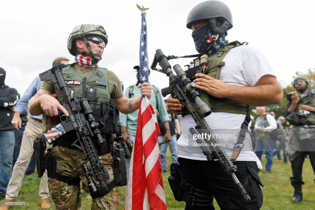 Proud Boys rally in Oregon : News Photo