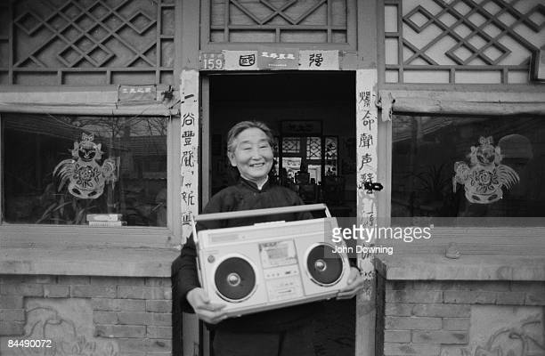 The proud owner of a stereo cassette recorder in China 5th February 1985