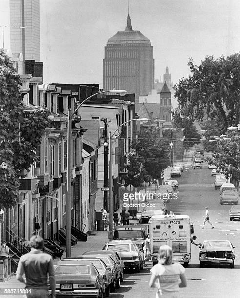 The Prudential Tower seen down West Fifth Street in South Boston on July 31 1980