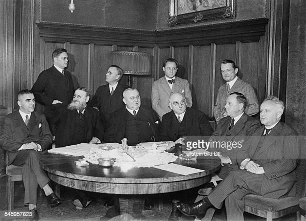 The Prussian government after its affirmation by the Constitutional Court in 1932 sitting from left minister of justice Hermann Schmidt agriculture...