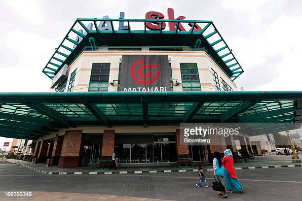 The PT Matahari Putra Prima logo is displayed outside the Mal Ska shopping mall in Pekanbaru Riau province Indonesia on Tuesday April 2 2013 The...