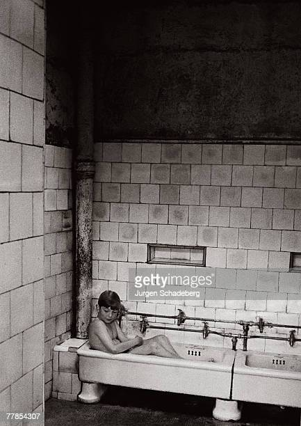 The public baths in the Gorbals area of Glasgow 1968