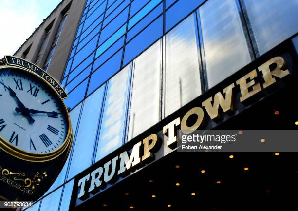 The public entrance to Trump Tower is on Fifth Avenue in Midtown Manhattan New York City