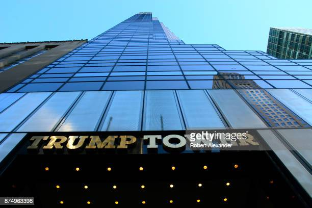 The public entrance to Trump Tower is on Fifth Avenue in New York, New York.