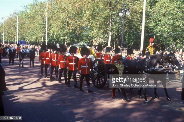 The public funeral of Diana Princess of Wales London UK 6th September 1997 Prince Philip Duke of Edinburgh Prince Charles Prince of Wales Prince...