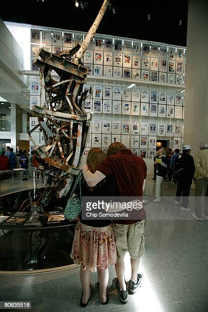 "The public gets its first look at the ""9/11 Gallery,"" which includeds a piece of the 360-foot radio antenna from the top of the World Trade Center..."