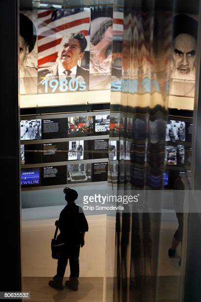 "The public gets its first look at the ""Internet, TV and Radio"" section of The Newseum during its grand opening April 11, 2008 in Washington, DC. The..."