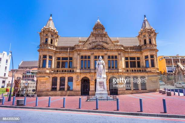 the public library in port elizabeth market square - port elizabeth south africa stock pictures, royalty-free photos & images