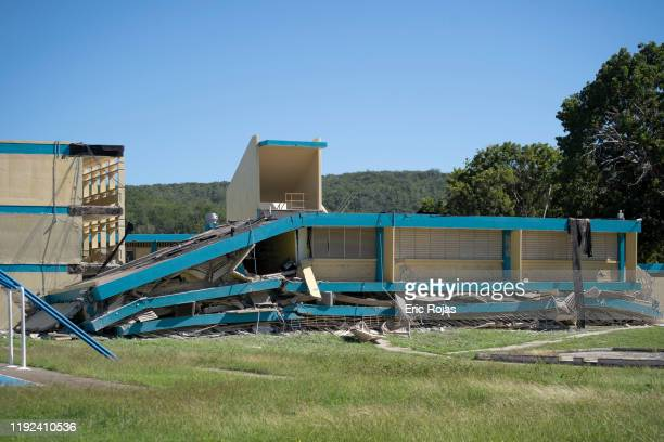 The public school Agripina Seda collapsed after a 64 earthquake hit just south of the island on January 7 2020 in Guánica Puerto Rico This morning's...