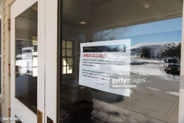 The public toilets at Mammoth Hot Springs in Yellowstone National Park are closed due to the government shutdown Visitors are allowed to enter the...