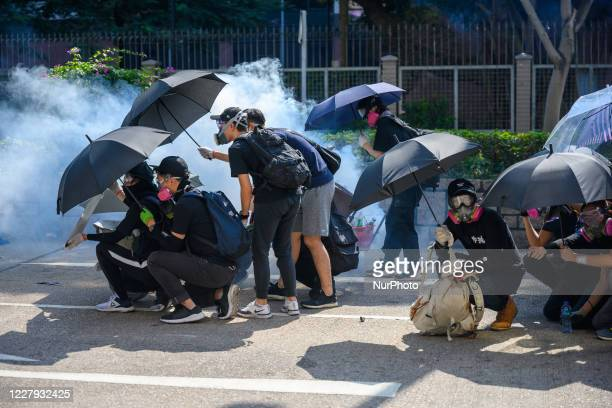 The Public trying to rescus protestors inside polyU during the second day of the Siege of PolyU in Hong Kong, China, on November 18, 2019.