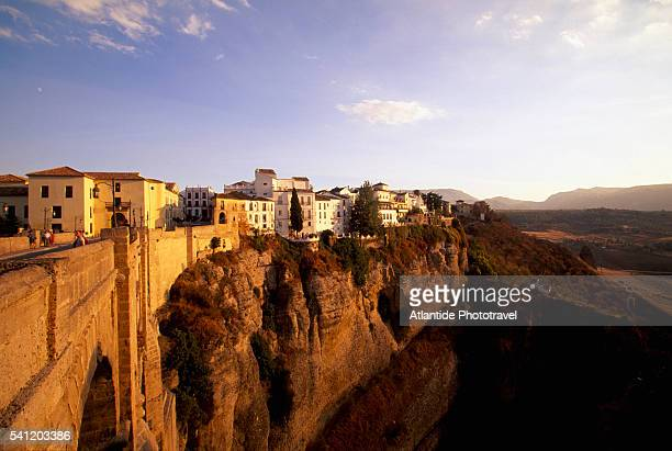 the puente nuevo - ronda stock pictures, royalty-free photos & images