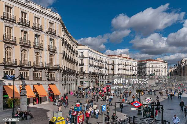 CONTENT] The Puerta del SolGate of the Sunis one of the best known and busiest places in MadridThe Puerta is located in the very heart of Madrid...