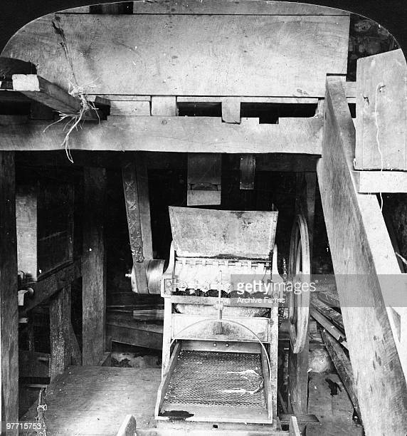 The pulping machine in a Blue Mountain coffee mill Jamaica