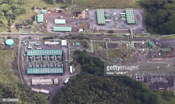The Puna Geothermal Venture plant stands on Hawaii's Big Island on May 6 2018 in Pahoa Hawaii The plant is increasingly threatened by the Lower East...