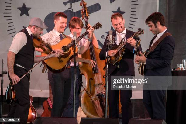 The Punch Brothers perform during the Newport Folk Festival 2017 at Fort Adams State Park on July 30 2017 in Newport Rhode Island