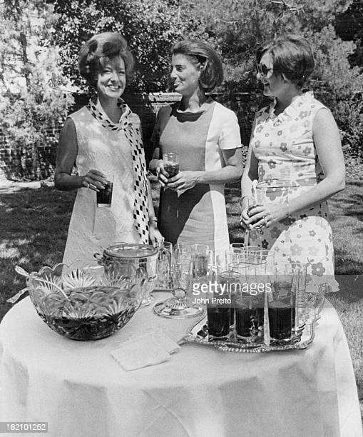 SEP 9 1970 SEP 13 1970 The punch party at the home of Mr and Mrs William E Sweet Jr was attended by from left Mrs Philip R Moore Mrs Frederick Green...