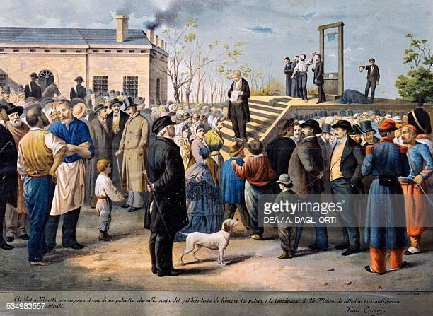 The punishment of Felice Orsini in Paris March 13 colour print France 19th century Bologna Museo Civico Del Risorgimento