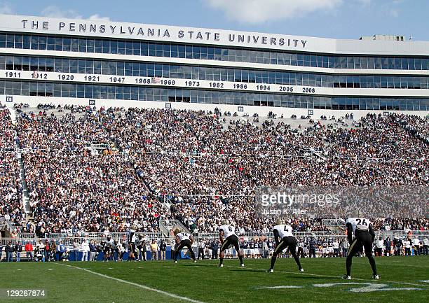 The Purdue Boilermakers kick off against the Penn State Nittany Lions during the game on October 15 2011 at Beaver Stadium in State College...