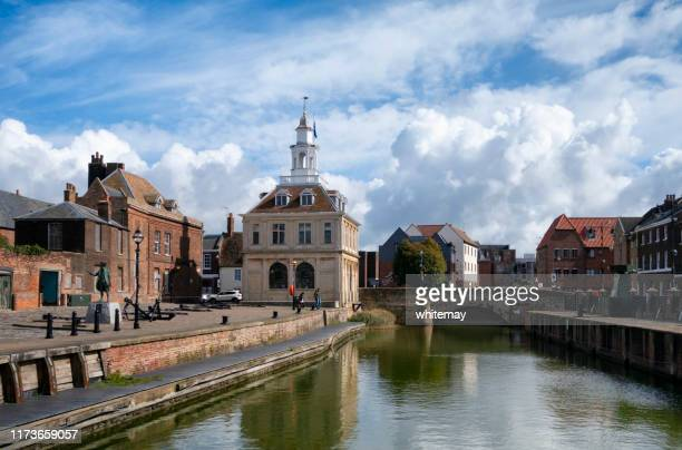the purfleet in king's lynn, west norfolk - king's lynn stock pictures, royalty-free photos & images