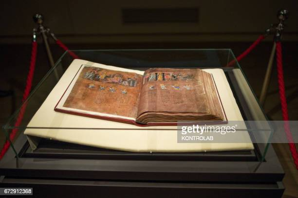 The Purple Code or 'Codex Purpureus' under the glass bowl in the airconditioned room In October 2015 it was recognized as a world heritage by UNESCO...