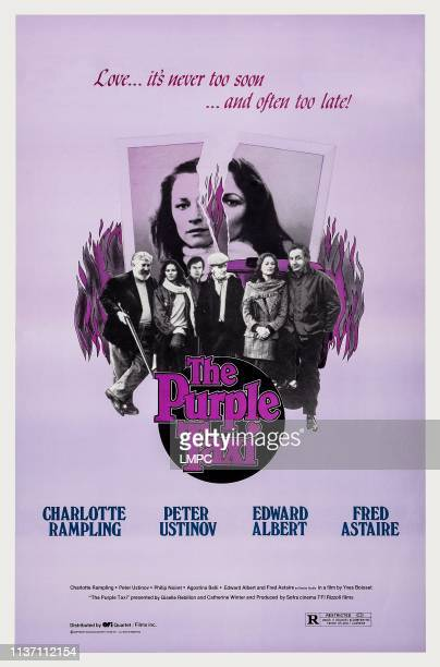 The Purple Taxi poster US poster art from left Peter Ustinov Agostina Belli Edward Albert Fred Astaire Charlotte Rampling Phillipe Noiret 1977