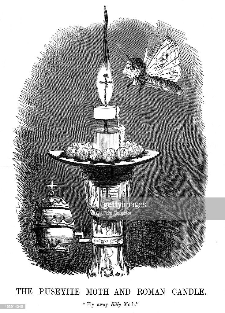 'The Puseyite Moth and the Roman Candle', 1850. : News Photo