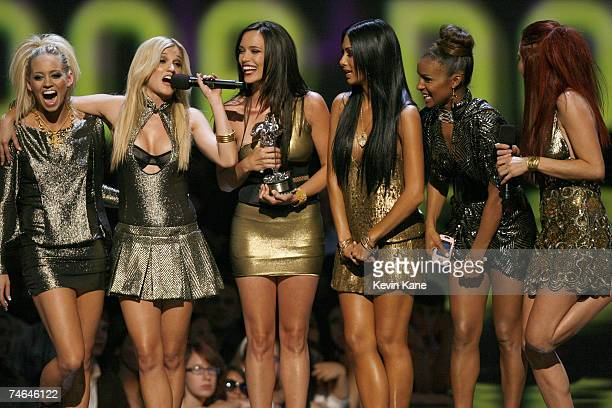 The Pussycat Dolls accept Best Dance Video award for Buttons at the Radio City Music Hall in New York City New York