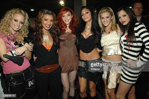 The Pussycat Dolls during 2005 Radio Music Awards Backstage and Audience at Aladdin Hotel in Las Vegas Nevada United States