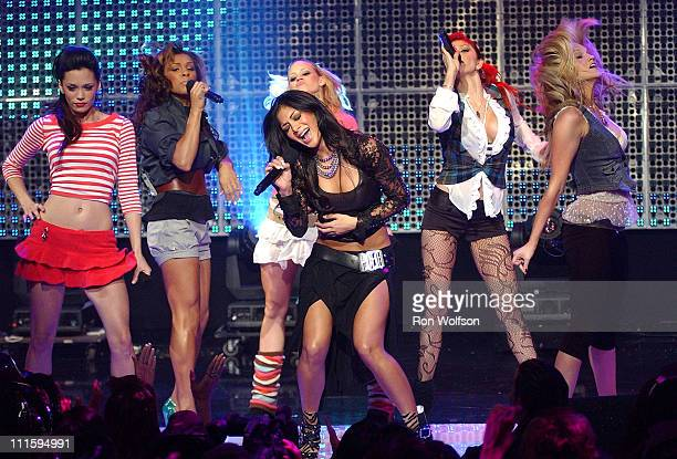 The Pussycat Dolls during Dick Clark's New Year's Rockin' Eve 2006 PreTaping Day 1 at Center Staging in Burbank California United States