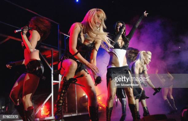 The Pussycat Dolls perform as part of the Honda Civic Tour 2006 at the Oakland Arena on May 12 2006 in Oakland California