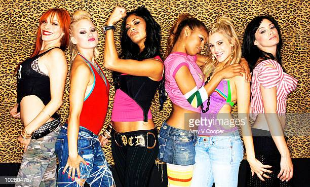 The Pussycat Dolls pose at a portrait session for mtvcom in July 2005 in New York City