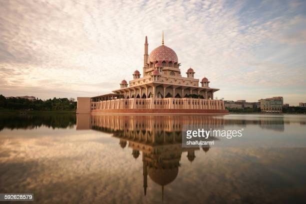 the putra mosque - putrajaya stock pictures, royalty-free photos & images