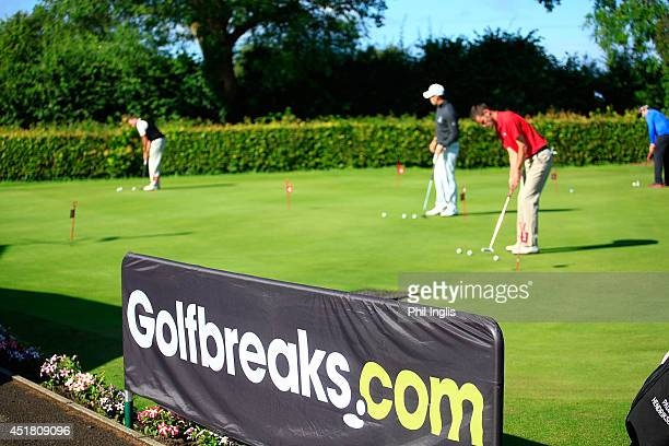 The putting green during the Golfbreakscom PGA Fourball Championship West Region qualifier played at Filton Golf Club on July 7 2014 in Filton England