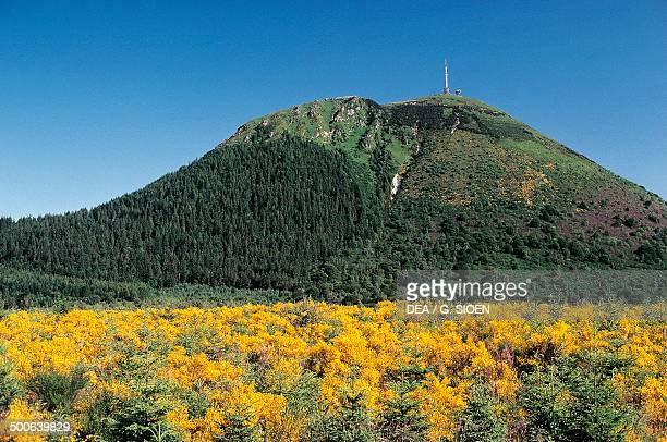 The PuydeDome Auvergne Volcanoes regional park France