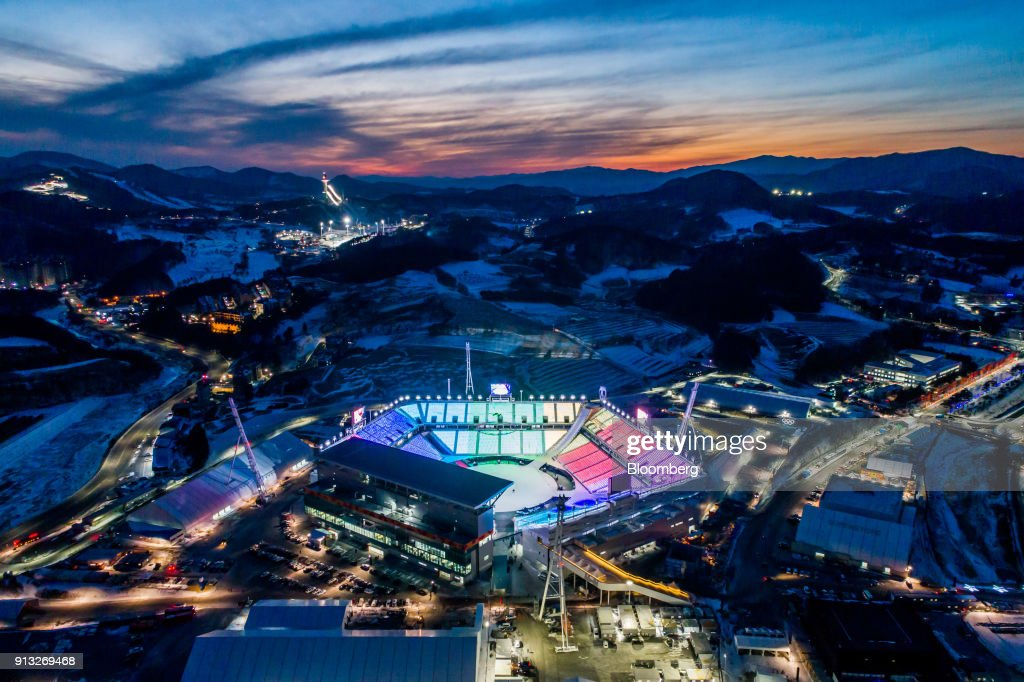 Aerial Views Of The 2018 Winter Olympics Venues : News Photo