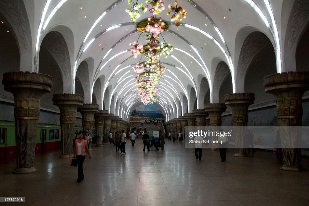 The Pyongyang metro station named Glory is one of only three stations that tourists are allowed to see in North Korea.