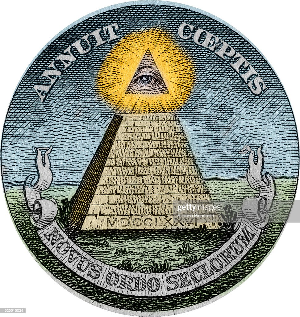 The Pyramid And All Seeing Eye Symbols Used In Great Seal Of