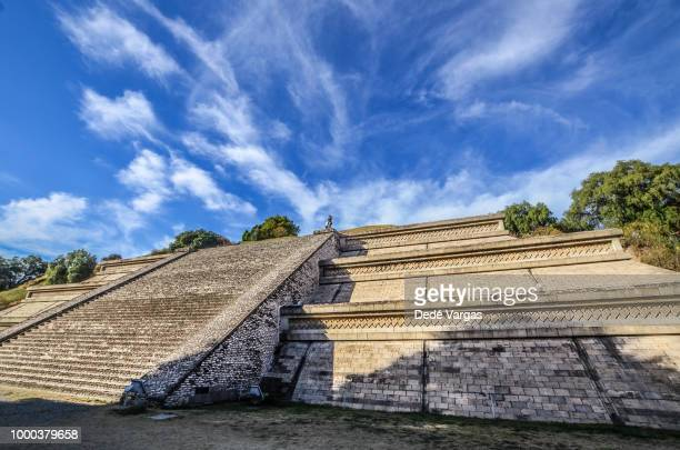the pyramid of cholula in mexico - puebla state stock pictures, royalty-free photos & images