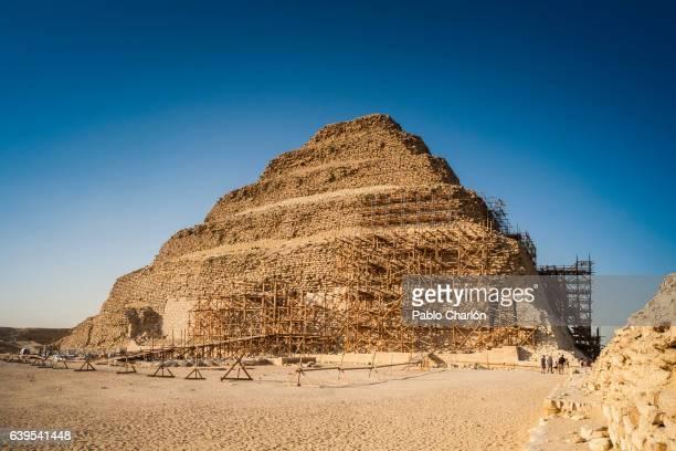the pyramid of djoser - patrimonio de la humanidad por la unesco stock pictures, royalty-free photos & images