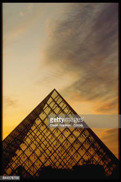The Pyramid of the Louvre covers the main entrance and reception hall of the Louvre Museum Paris France